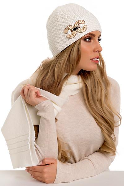 Красивая модная вязаная женская шапка Suri, Польша.