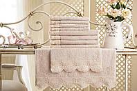 """Махровые полотенца для рук Gul Guler """"Gul Gupur"""" Rose"""