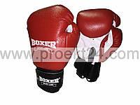 Боксерские перчатки кожа 10 oz (красные)