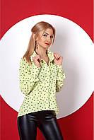 Женская рубашка с принтом в сердечки