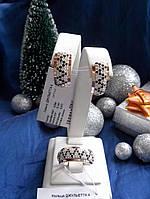 Набор из серебра с золотыми накладками Джульета 4
