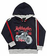 Джемпер с капюшоном для мальчика Мотоцикл