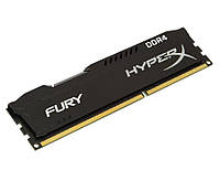 Память 4Gb DDR4, 2666 MHz, Kingston HyperX Fury Black, 15-17-17, 1.2V, с радиатором (HX426C15FB/4)
