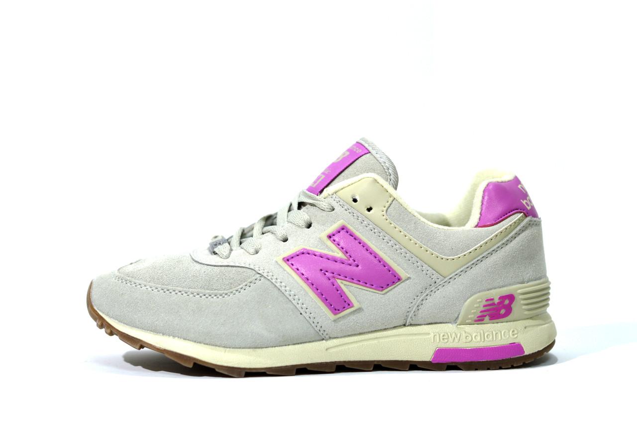 New Balance grey WL574 VN кроссовки женские серые/розовые Нью Баланс