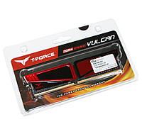 Память 8Gb DDR4, 2400 MHz, Team T-Force Vulcan Red, 14-16-16, 1.2V, с радиатором (TLRED48G2400HC1401)