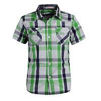 Рубашка в клеточку Glo-story с коротким рукавом; 98, 104 размер