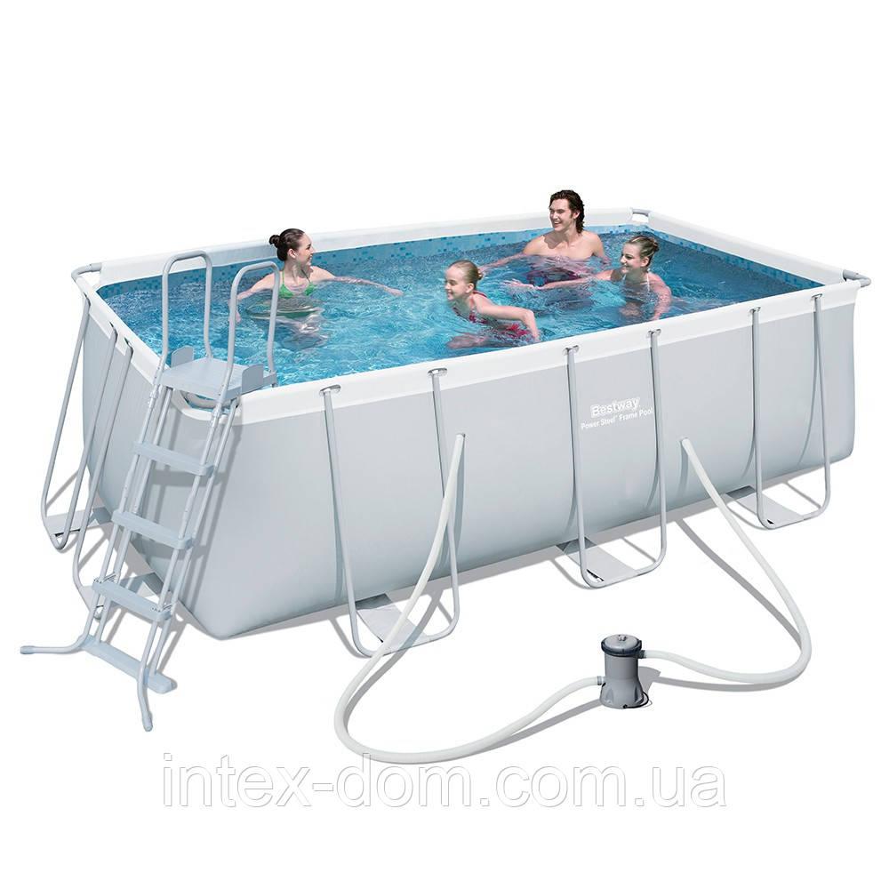 Каркасный бассейн BestWay 56456 (412х201х122 см.) ( Картриджный фильтр-насос 2006 л/ч; лестница)