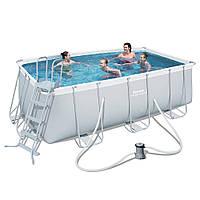 Каркасный бассейн BestWay 56456 (412х201х122 см.) ( Картриджный фильтр-насос 2006 л/ч; лестница), фото 1