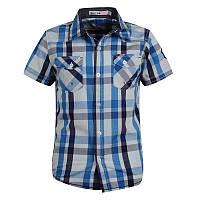 Рубашка в клеточку Glo-story с коротким рукавом; 110 размер