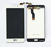 Оригінальний дисплей (модуль) + тачскрін (сенсор) для Meizu M3 Note   L681H (білий колір)