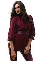 Блуза и брюки костюм женский цвет капуччино размер S M L, фото 3