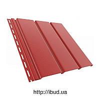 ПВХ Софит (сайдинг, подшива) гладкий красный RAL 3011 BRYZA Бриза (Польша)