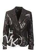 Кожаная куртка пиджак (размер М), фото 1