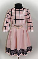 Платье для девочки, детское, с кружевом