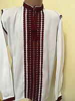 Сорочка ткана на стійку хлопчача на 7-8 років