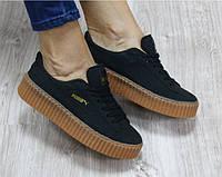 Кроссовки Puma замшевые черные