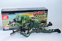 Ползающий интерактивный солдат на батарейках, свет, звук, фото 1