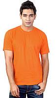 Футболка однотонная Оранжевая 130 г/м². 100% хлопок, опт.