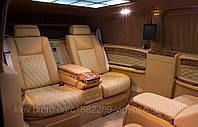 Установка диванов BMW E65/66 в Mercedes-Benz Viano.
