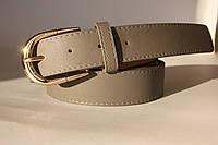 Женский ремень полоса F305 (серый)