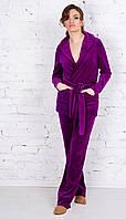 Женский велюровый костюм, пижама-стиль