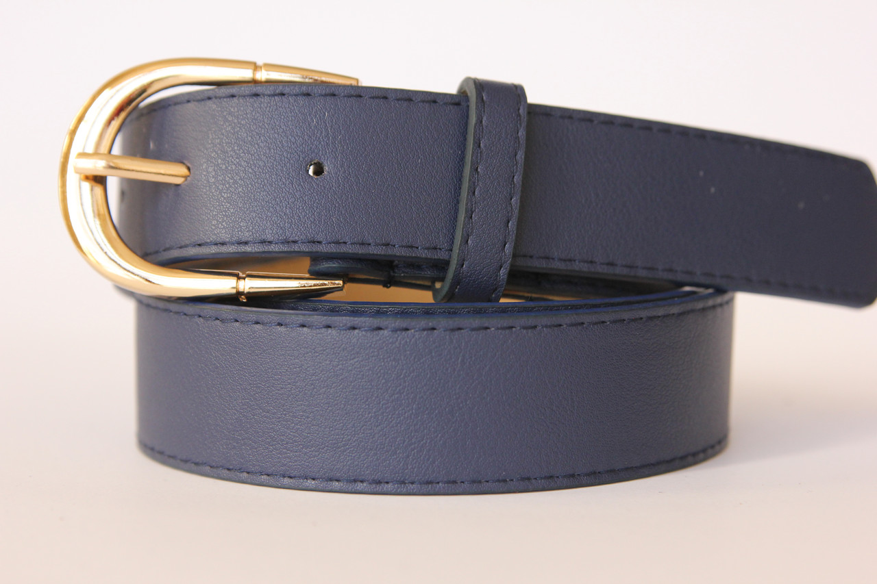 Женский ремень полоса F305 (синий)