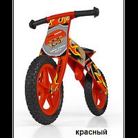 Велосипед беговой велокат Milly Mally беговел FLIP RED надувные колеса дерево Польша
