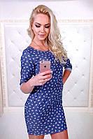 Женское легкое платье из тонкого джинса