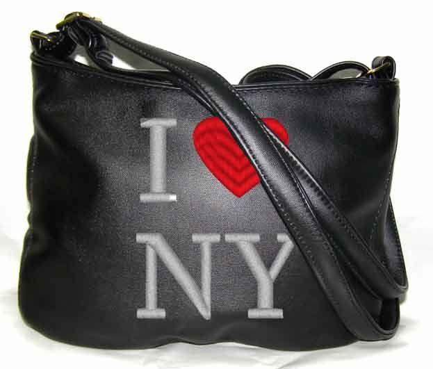 """Сумочка """"Mini"""" - №44 """"I love NY"""" - цвет на выбор"""