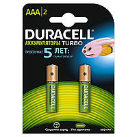 Аккумуляторы Duracell Turbo ААА 850mAh, 2 шт