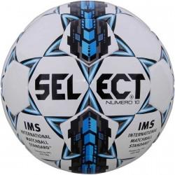 Мяч футбольный SELECT NUMERO 10 IMS (305) ,бел/сер/голуб р.5