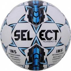 Мяч футбольный SELECT NUMERO 10 IMS (305) ,бел/сер/голуб р.5, фото 2