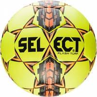 Мяч футбольный SELECT Flash Turf (306) желт/сер/оранж  р.4
