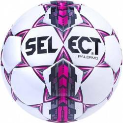 Мяч футбольный SELECT PALERMO (310) бел/сер/роз р.5, фото 2