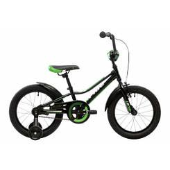 """Велосипед 16"""" Pride Flash черный/зеленый/белый"""