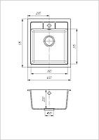 Кухонная мойка из искусственного камня (гранитная) Бриз
