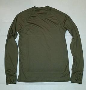 Термофутболка мужская потоотводящая с длинным рукавом из ткани кулмакс (олива)
