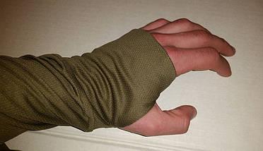 Термофутболка мужская потоотводящая с длинным рукавом из ткани кулмакс (олива), фото 3
