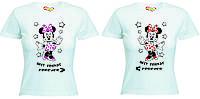 Парные футболки для подружек