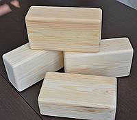 Йога-блок. 1 шт  Кирпич деревянный. Производится из сосны.