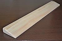 Планка деревянная для занятий йогой производится из сосны.