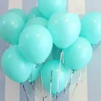 Воздушные шары  латексные мятные-тиффани 30 см.