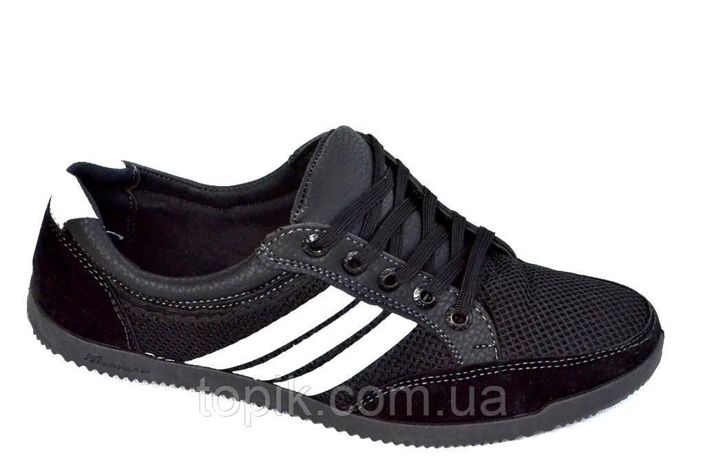 Кроссовки кеды туфли мокасины летние сетка черные Львов