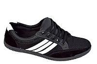 Кроссовки кеды туфли мокасины летние сетка черные Львов, фото 1