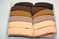 Широкая микрофибровая резинка для волос