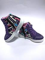 Ботинки кроссовки для девочки арт. К153 purpl