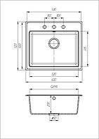 Кухонная мойка из искусственного камня (гранитная) Гросс