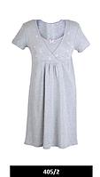 Сорочка нічна Жіноча TM Muzzy для годування Сірий меланж