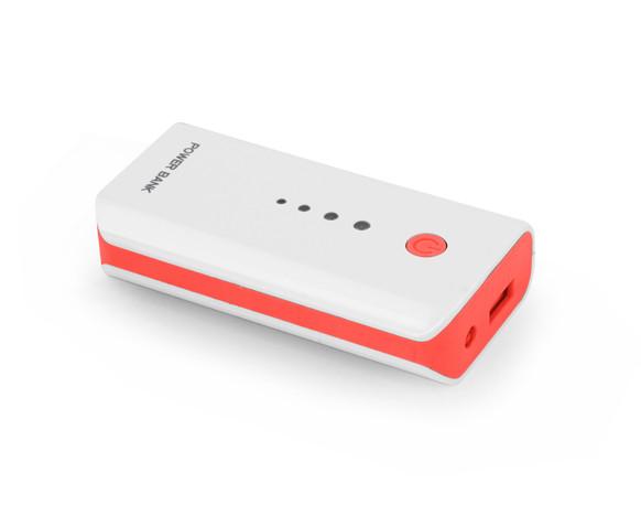 Повербанк 5200 mAh, Esperanza, White/Red, power bank, портативное зарядное устройство  - Sale365 в Николаеве
