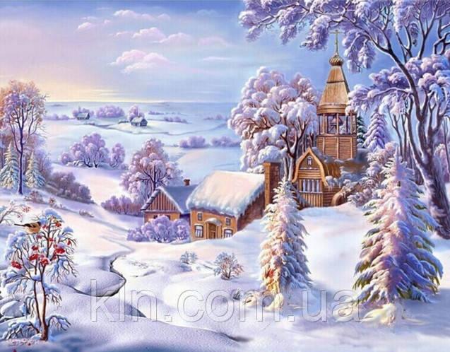 Алмазная мозаика Зимняя красота 30 х 40 см (арт. FR456) , фото 1